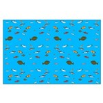 Alaska Fish Scattter 4x4 render Posters