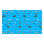 Alaska Fish Scattter 4x4 render Sticker