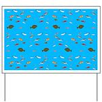 Alaska Fish Scattter 4x4 render Yard Sign
