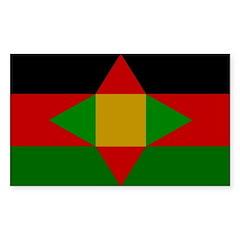 Washitaw Flag Sticker (Rectangle 50 pk)