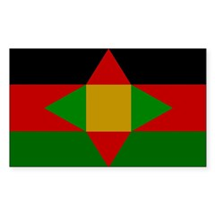 Washitaw Flag Sticker (Rectangle)