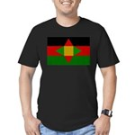Washitaw Flag Men's Fitted T-Shirt (dark)