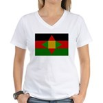 Washitaw Flag Women's V-Neck T-Shirt
