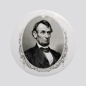 President Abraham Lincoln Round Ornament