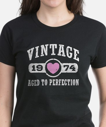 Vintage 1974 Women's Dark T-Shirt