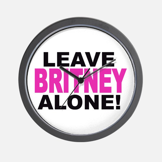 Leave Britney Alone! Wall Clock