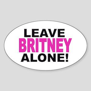 Leave Britney Alone! Oval Sticker