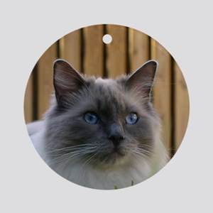 ragdoll Round Ornament