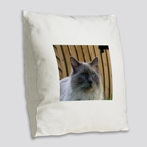 ragdoll Burlap Throw Pillow