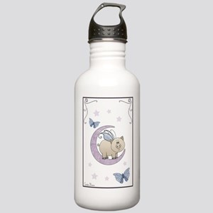 Piggy on the moon II Sports Water Bottle