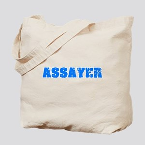Assayer Blue Bold Design Tote Bag