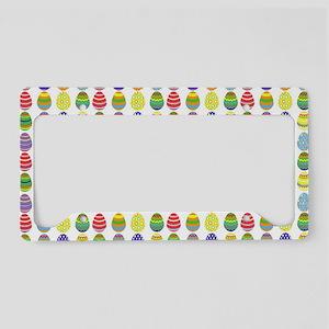 Easter egg pattern License Plate Holder