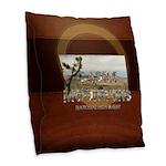 Abh Castle Mountains Burlap Throw Pillow