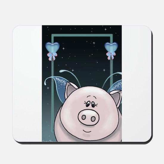 Piggy Portrait 1 Mousepad