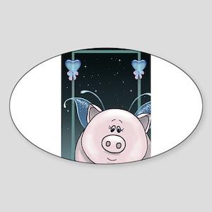 Piggy Portrait 1 Sticker