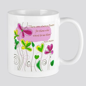 Flowers quote Mugs