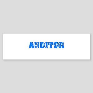 Auditor Blue Bold Design Bumper Sticker