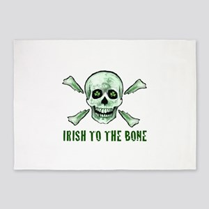 Irish to the bone 5'x7'Area Rug