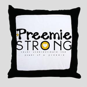 Preemie Strong Throw Pillow
