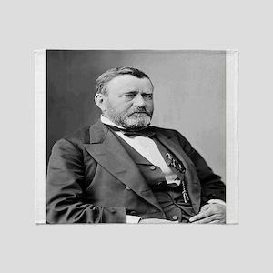President Ulysses S Grant Throw Blanket