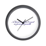 Hard-on not Personal Growth Wall Clock