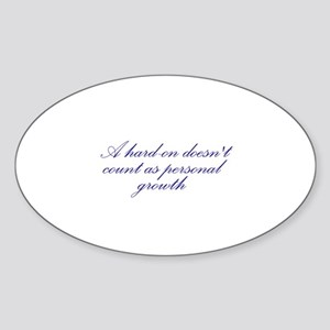 Hard-on not Personal Growth Oval Sticker