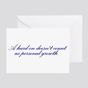 Hard-on not Personal Growth Greeting Cards (Pk of