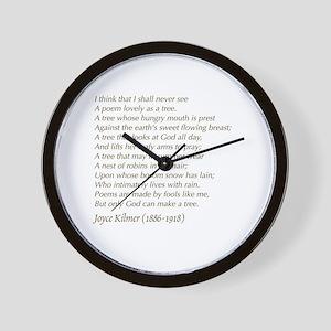 Poem wall clocks cafepress wall clock ccuart Image collections