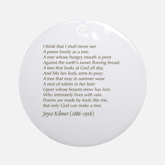 Cute Poems Round Ornament