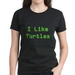 I Like Turtles Women's Dark T-Shirt