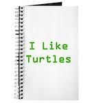 I Like Turtles Journal