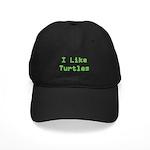 I Like Turtles Black Cap