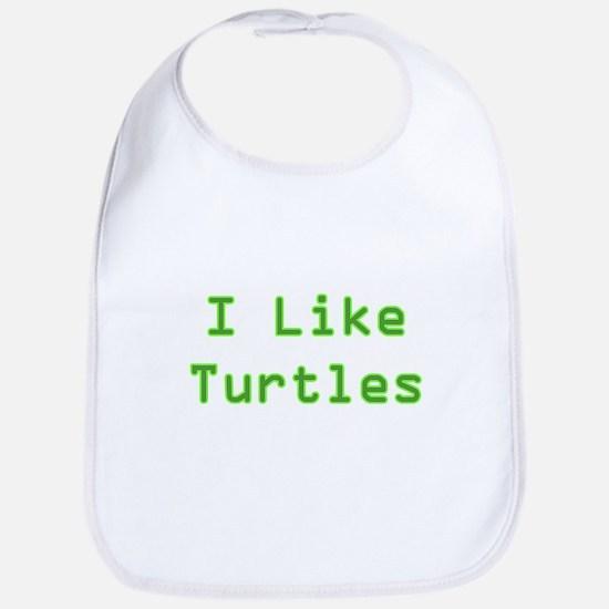 I Like Turtles Bib