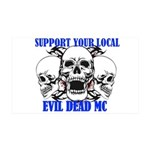 Support Your Local Evil Dead Mc 35x21 Wall Decal
