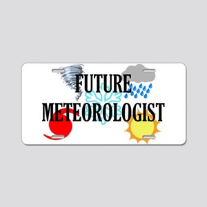 Future Meteorologist Aluminum License Plate