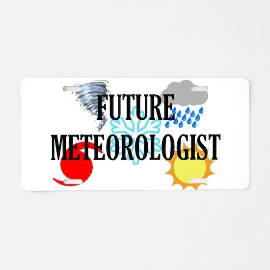 Future Meteorologist Aluminum License Plate