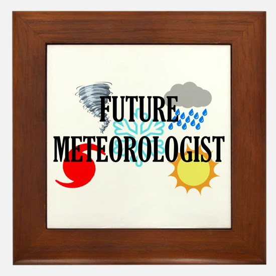 Future Meteorologist Framed Tile