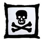 Skull and Crossed Bones Throw Pillow