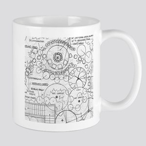 Garden Blueprint Section Mugs