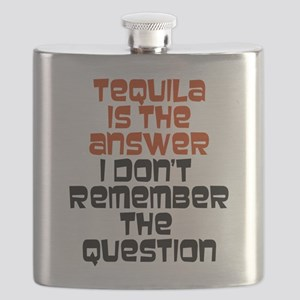 Tequila Is The Answer Flask