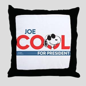 Joe Cool for President Throw Pillow
