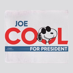 Joe Cool for President Throw Blanket