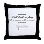 Woman with a sword Throw Pillow