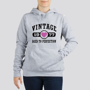Vintage 1977 Women's Hooded Sweatshirt