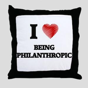 being philanthropic Throw Pillow