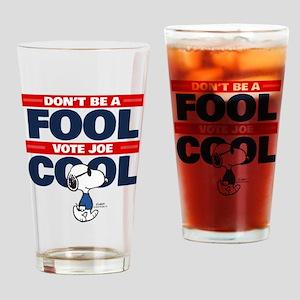 Vote Joe Cool Drinking Glass