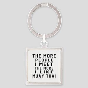 I Like Muay Thai Square Keychain