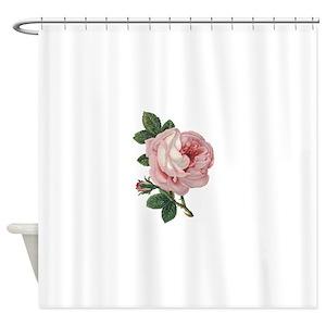 Vintage Pink Rose Shower Curtains