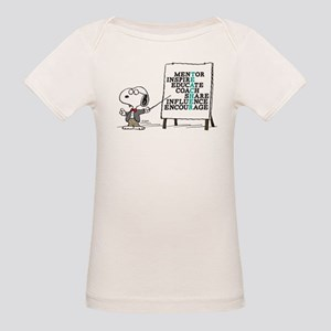 Snoopy - Teacher Notes Organic Baby T-Shirt