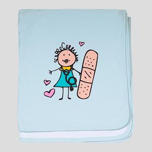 Woman Nurse baby blanket